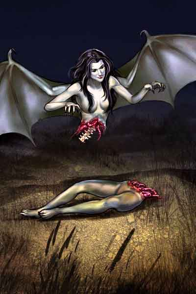 "alt=""Filipino mythical creature in the Philippines called Manananggal"""