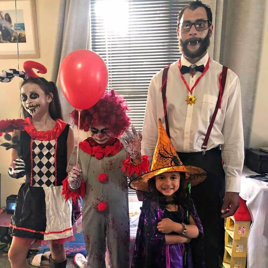 "alt=""A Happy family Halloween Filipino mythical creatures costumes"""