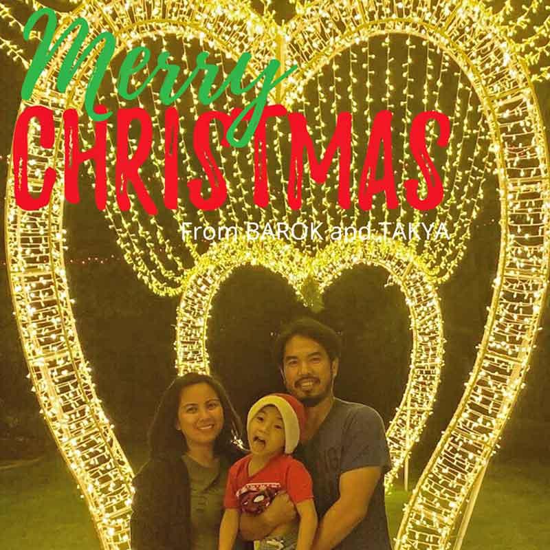 "alt=""Filipino family celebrating Paskong Pinoy Christmas lights"""