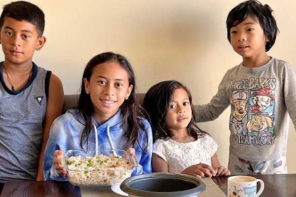 """alt=""""Kids Enjoying the Simple Fried Rice Pinoy for breakfast"""""""